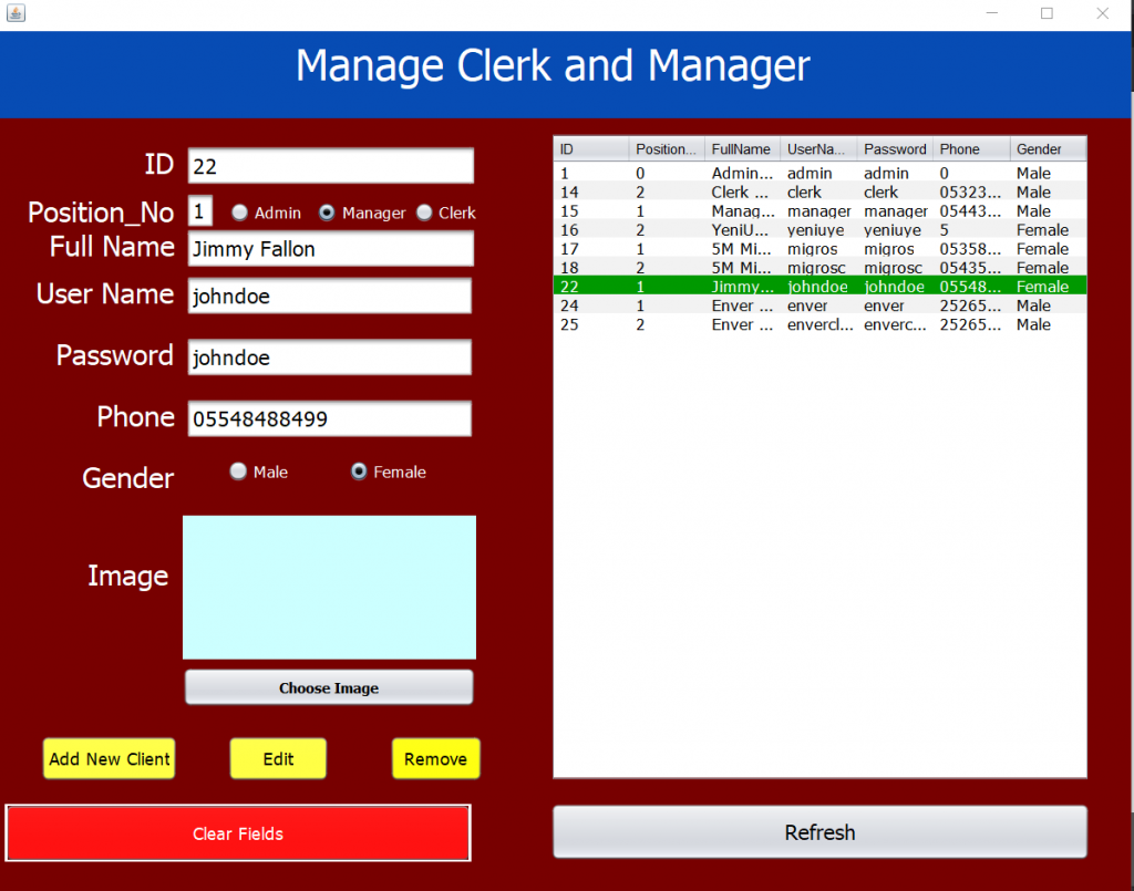 Market Chain Automation System - Java Swing